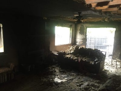 Home in Twin Falls County destroyed by fire and smoke damage.