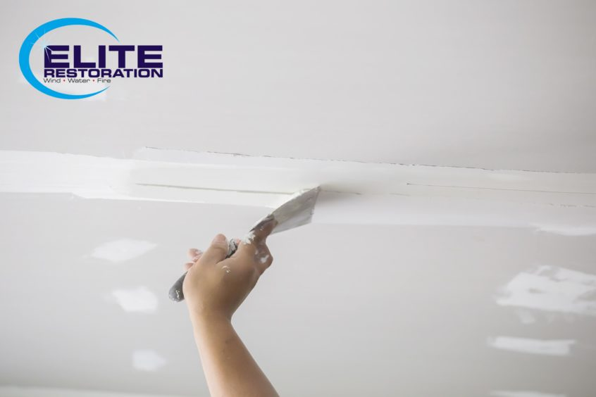 drywall repair with spackle