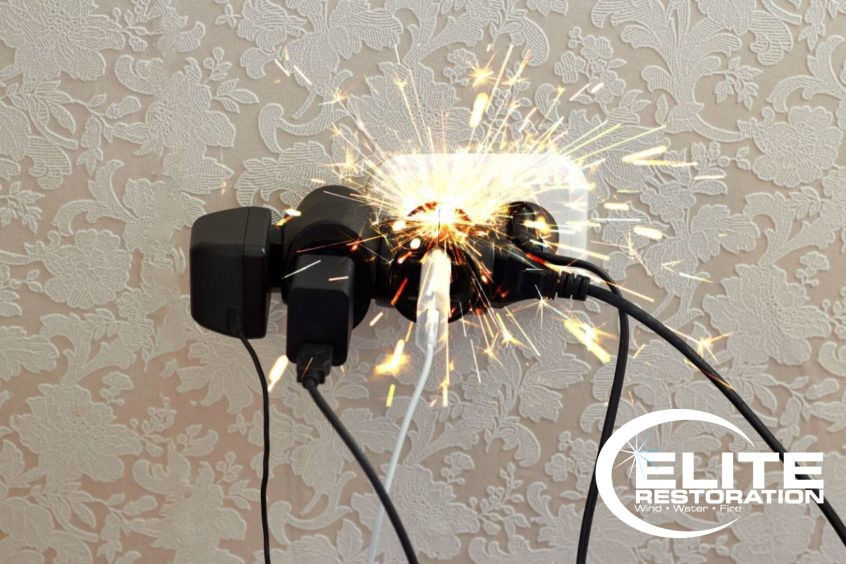 over-loaded electrical outlet sparking
